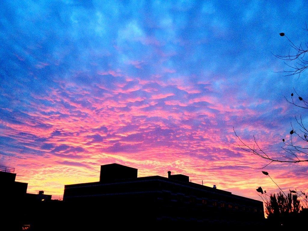 Beautiful evening sky over Alphabet City! #cloudporn ...