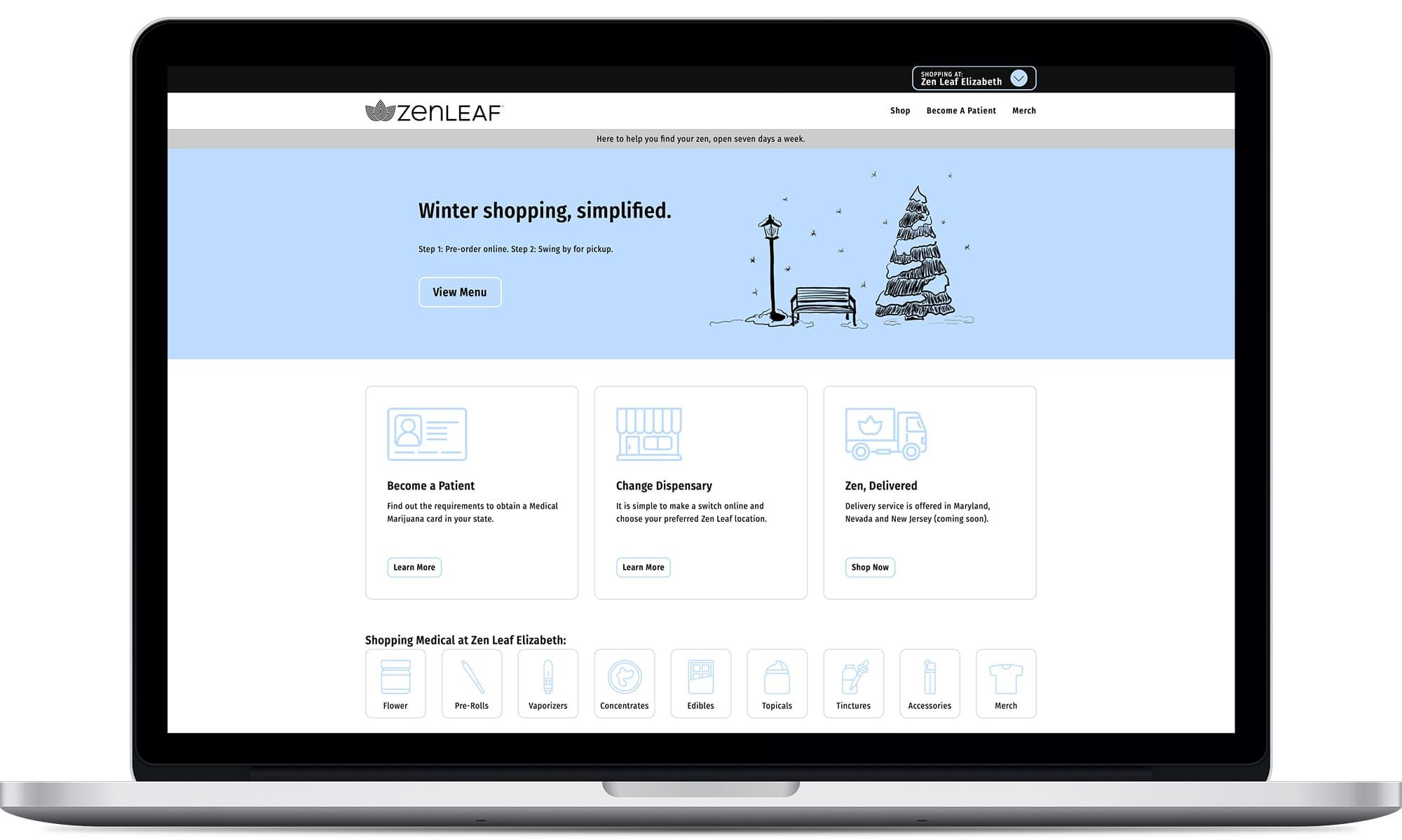 Zen Leaf Website design